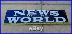 News of the World 1950s advertising enamel sign vintage retro antique industrial