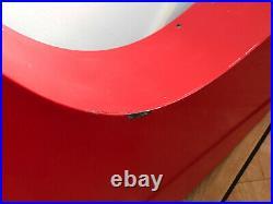Nike Vintage Swoosh Authentic Original Metal Shop Display Sign 5 Foot Long RARE