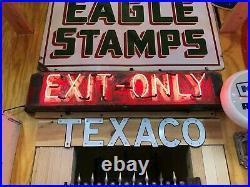 OLD EXIT ONLY Sign Vintage NEON Antique PATINA Garage Mancave HoT RaT RoD WOW