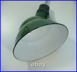 ONE Benjamin 14 Gooseneck Porcelain Sign Light Industrial Gas Station Vintage