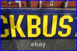 Original 10' Vintage Blockbuster Sign Display, Fiberglass, Marquee