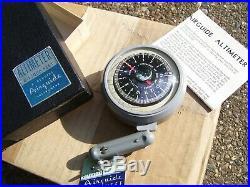 Original 1950s nos Gauge auto Altitude Altimeter vintage scta old GM Ford Chevy