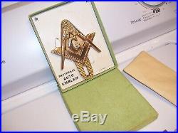 Original 1950s nos Masonic auto emblem badge brass vintage scta GM Ford Chevy