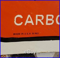 Original Old Vintage Rare Orange Crush Porcelain Enamel Embossed Sign Board, USA
