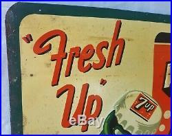 Original Vintage 1953 7upFresh Up with 7up Stout Sign