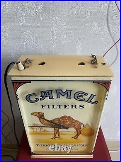Original Vintage Camel Cigarettes Light Clock Sign Very Rare Bar Pub Collectible