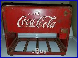 Original Vintage Coca Cola Salesman's Sample Mini Cooler Chest 1939 Kay Display