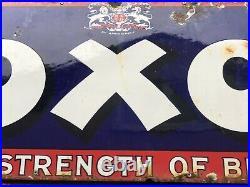Original Vintage Enamel Sign OXO Enamel Sign The Strength Of Beef Genuine