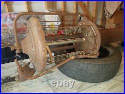 Original Vintage FRY 117 MAE WEST Visible GAS PUMP 10 Gallon Oil Garage Sign OLD