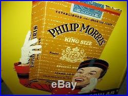 Original Vintage Philip Morris Tobacco Advertising Sign