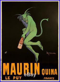 Original Vintage Poster L. Cappiello Maurin Quina Green Devil 1906