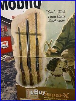 Original Western Ammunition Die Cut Advertising Sign, Winchester Sign