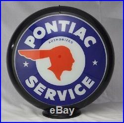 Pontiac Service Gas Globe Sign Filling Station Pump Decor Indian Vintage Garage