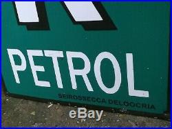 Power Petrol Enamel Sign enamel sign petrol enamel race car garage vintage speed