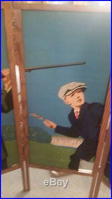 RARE 1920 WINCHESTER Advertising 5 Panel Set JUNIOR TRAPSHOOTING OUTFIT SIGN HTF