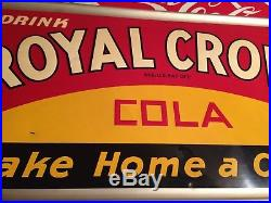 RARE Vintage Antique Royal Crown Cola Tin Non Porcelain Bottle Sign Nehi Co