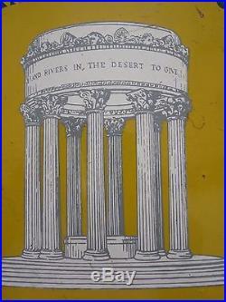RARE Vintage Porcelain 1930's Sign San Francisco Water Department Pulgas Temple