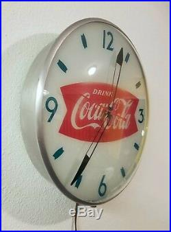 RARE swihart coca cola bubble clock, 1950s vintage coke