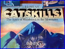 REDUCED Milton Glaser I Love NY Catskills Spirit of Woodstock Vintage Art Poster