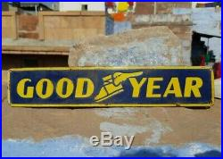 Rare 1930's Old Antique Vintage Goodyear Tyre's Ad. Porcelain Enamel Sign Board