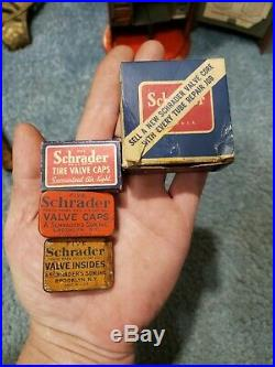 Rare Antique Vintage Schrader Tire Guage Display Sign Old Gas Station Display