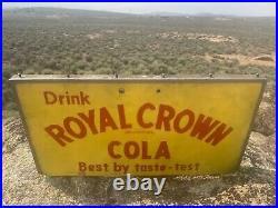 Rare Large Vintage Drink Royal Crown Cola Rc Soda POP Sign Best By Taste Test