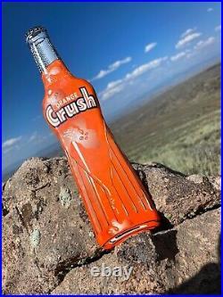 Rare Large Vintage Orange Crush Embossed Bottle Soda Cola POP Drink Metal Sign