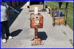 Rare Model & Size Vintage Sunoco Gasboy Clock Face Gas Pump Gas Station Sign