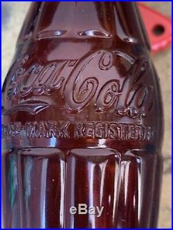 Rare Vintage 1950's Coca Cola Soda Pop Bottle Door Push Pull Handle Sign