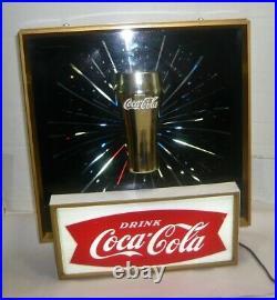 Rare Vintage 1960's Coca-cola Starburst Glass Lightup Sign
