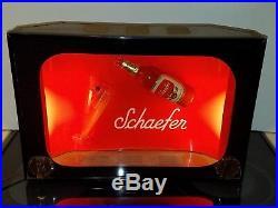 Rare Vintage 1960s Schaefer Beer Advertising TV Bubbler Motion Sign