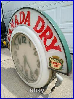 Rare Vintage 50's Original Canada Dry Clock, Electric Neon Sign Company, Cleveland