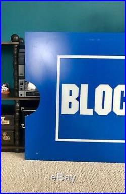 Rare Vintage Blockbuster Video Sign Large 6 Feet X 3 Feet