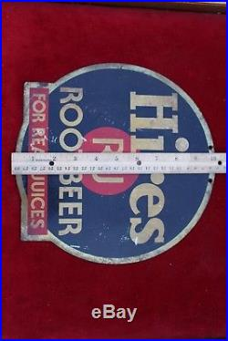Rare Vintage Hires R-J Root Beer Soda Pop Metal Advertising Tin Sign Display 10