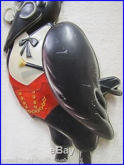Rare Vtg OLD CROW Brand Whiskey Figural Store Display Advertising Sign raised