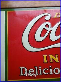 Rare vintage Coca Cola Christmas bottle sign 1931