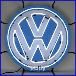 Retro Volkswagen round logo Neon Sign vintage style VW Bus Camper Beetle Golf