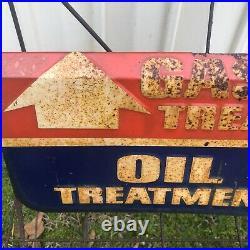 STP Oil Treatment Display Stand Rack Service Station Gas Oil Vintage