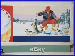 Schmidt Beer Mini Billboard Advertising Sign Original Art by Les Kouba -VTG RARE