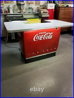 Soda Fountain, Home Bar, Coca Cola cooler, man cave, 50s, sign, vintage kitchen