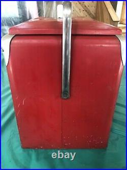 UNRESTORED Vintage 1950's Coca Cola Coke carry cooler Progress Refrigerator