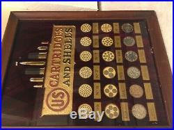 US Cartridge ammunition box bullet board advertising display shotshell sign