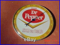 VINTAGE 12 Dr. PEPPER THERMOMETER MS-20 1961 MS-20 1961 PAM CLOCK Co