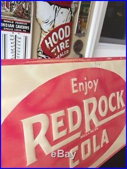 VINTAGE 1940s REDROCK COLA ADVERTISING SIGN MENU BOARD