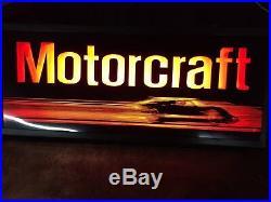 VINTAGE FORD MOTORCRAFT GT40 LIGHTED SIGN Thompson Leeds NYC L LITE