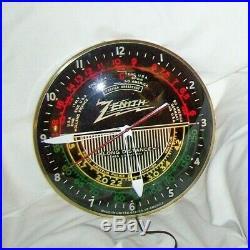 VINTAGE PAM ZENITH SHORTWAVE RADIO ADVERTISING LIGHTED CLOCK SIGN 1950's