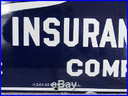 VINTAGE SAINT PAUL INSURANCE COMPANY PORCELAIN ADVERTISING SIGN FIRE and MARINE