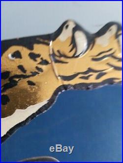(VTG) 1960s big cat malt liquor beer advertising bar store sign tiger cat pabst