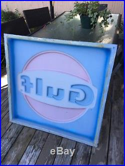 VTG Gulf Gas Station 36X36 RUSTIC Advertising Sign Display PANEL EXC