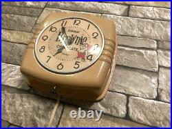VTG TELECHRON BROWNIE CHOCOLATE DRINK OLD 50's DINER ADVERTISING WALL CLOCK SIGN